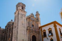 San Francisco de Campeche, México: Opinión el San anterior Jose Cathedral Era el templo principal del monasterio de la jesuita, a Fotografía de archivo