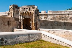 Free San Francisco De Campeche, Mexico: Old Fortress Wall And Entrance To The Historic Center. Land Gate Puerta De Tierra Stock Image - 114335841