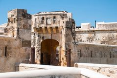 Free San Francisco De Campeche, Mexico: Old Fortress Wall And Entrance To The Historic Center. Land Gate Puerta De Tierra Stock Photography - 114335872
