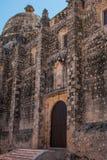 San Francisco de Campeche, Mexico: Sikt av den tidigare Sanen Jose Cathedral Det var den huvudsakliga templet av jesuitkloster, n royaltyfri bild