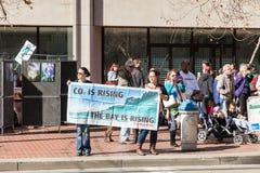 SAN FRANCISCO - 17 DE FEBRERO: âForward masivo en el ra de Climateâ Imágenes de archivo libres de regalías