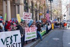 SAN FRANCISCO - 17 DE FEBRERO: âForward masivo en el ra de Climateâ Fotos de archivo