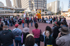 SAN FRANCISCO - 17 DE FEBRERO: âForward masivo en el ra de Climateâ Fotos de archivo libres de regalías