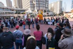SAN FRANCISCO - 17 DE FEVEREIRO: âForward maciço no ra de Climateâ Fotos de Stock Royalty Free