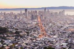 San Francisco de picos gemelos Foto de archivo