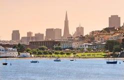 San Francisco de stad in. royalty-vrije stock fotografie