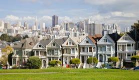 SAN FRANCISCO, de V.S. - Geschilderde Dames royalty-vrije stock afbeeldingen
