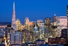San Francisco an der Dämmerung Lizenzfreies Stockbild