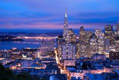 San Francisco an der Dämmerung Stockfoto
