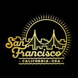 San Francisco design template. Vector and illustration. royalty free illustration
