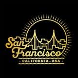 San Francisco designmall Vektor och illustration royaltyfri illustrationer