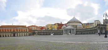 San Francisco di Paola, cuadrado de Plebiscito, Nápoles Fotos de archivo