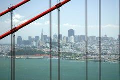 San Francisco door de Gouden Poort Stock Afbeeldingen