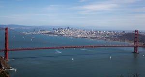 San Francisco door het Golden Gate wordt ontworpen dat Royalty-vrije Stock Foto's