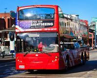 San Francisco double decker sightseeing bus Stock Photos