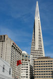 San Francisco downtown. Transamerica building viewed from Chinatown Royalty Free Stock Image