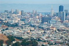 San Francisco downtown. View royalty free stock image