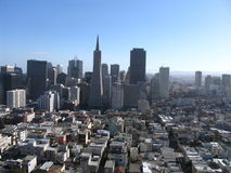 San Francisco - Downtown. Downtown San Francisco from the twin peaks Royalty Free Stock Image