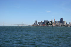 San Francisco downtown. – a view from Alcatraz island Stock Photo