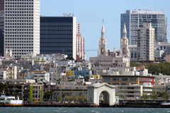 San Francisco downtown. – a view from Alcatraz island Stock Photography
