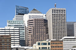 San Francisco downtown architecture California. Royalty Free Stock Photo