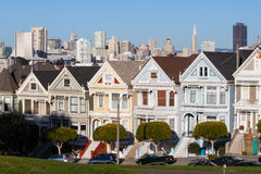 San Francisco Downtown Area from Alamo Square Park Stock Photo