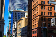 San Francisco downtown buildings in California Stock Photo