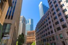 San Francisco downtown buildings in California Royalty Free Stock Photos