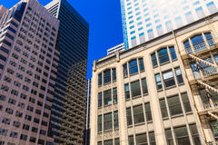 San Francisco downtown buildings in California Royalty Free Stock Photos