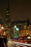 San Francisco Downtown at Night Stock Photo