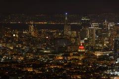 San Francisco Downtown no espírito do feriado Fotos de Stock Royalty Free
