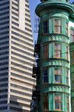 San Francisco Downtown old and new closeup Royalty Free Stock Image