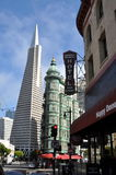 San Francisco Downtown old and new Royalty Free Stock Photos