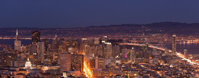 San Francisco Downtown Panorama Stock Photography