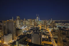 San Francisco Downtown Skyline Night Fotografia de Stock Royalty Free