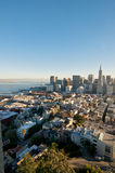 San Francisco Downtown Skyline View. A view on San Francisco downtown skyline and the Transamerica Tower from the Coit Tower Royalty Free Stock Photos
