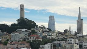 San Francisco with downtown skyscapers in the background. stock footage