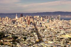 San Francisco downtown view from Twin Peaks Royalty Free Stock Image