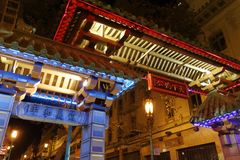 Dragon Gate in San Francisco Chinatown stock photography