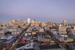 San Francisco Dusk Royalty Free Stock Photography