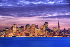 San Francisco at dusk HDR Royalty Free Stock Photo