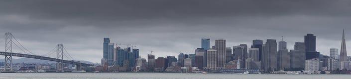 San Francisco e vista panoramica del Baia-ponte Fotografia Stock