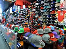 San Francisco, een kleurrijke hoedenwinkel royalty-vrije stock afbeeldingen