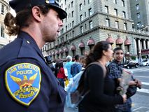 San Francisco, een politieagent royalty-vrije stock foto