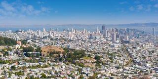 San Francisco in een zonnige de zomerdag Stock Foto