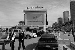 San Francisco Embarcadero Black and White Royalty Free Stock Images