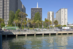 San Francisco Embarcadero Boulevard and pacific ocean. Royalty Free Stock Image