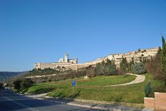 San Francisco en Assisi, Italia Fotografía de archivo