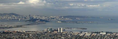 San Francisco en de Baai royalty-vrije stock afbeelding