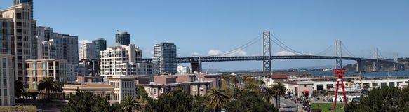 San Francisco en de Brug van de Baai Stock Afbeelding